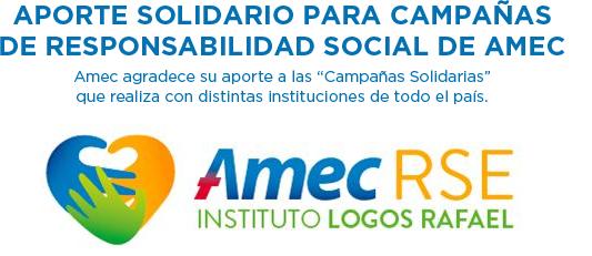 Aporte solidario para campañas de responsabilidad social de AMEC